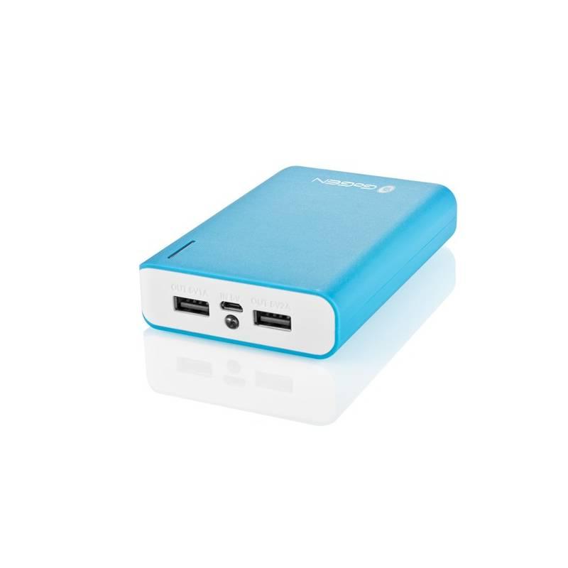 Power Bank GoGEN 10000mAh (GOGPB100002BLW) biela/modrá