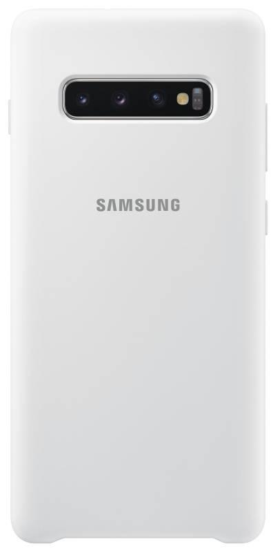 Kryt na mobil Samsung Silicon Cover pro Galaxy S10+ (EF-PG975TWEGWW) biely