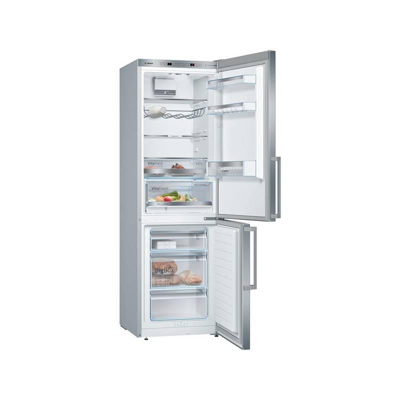 Kombinácia chladničky s mrazničkou Bosch KGE366L4Q nerez + Doprava zadarmo