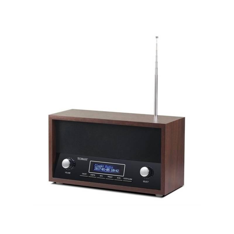 Rádioprijímač s DAB Technaxx TX-95 (4718) čierny/drevený