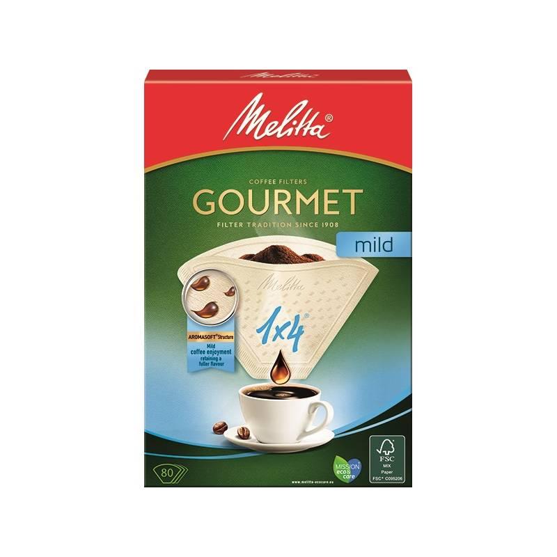 Filter Melitta 1 x 4, 80 ks Gourmet Mild (160390)