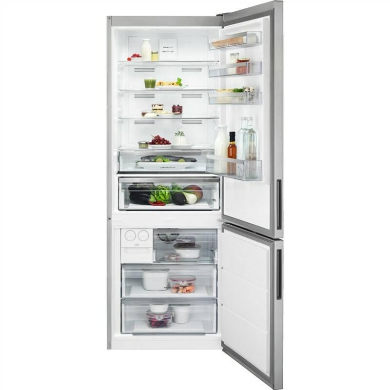Kombinácia chladničky s mrazničkou AEG Mastery RCB65121TX sivá/nerez + Doprava zadarmo