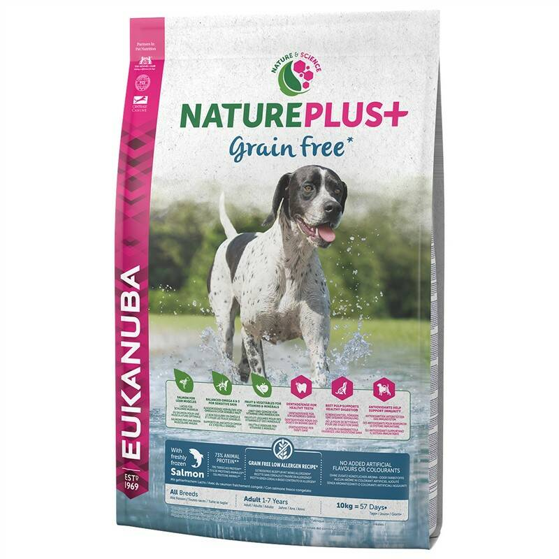 Granuly Eukanuba Nature Plus+ Adult Grain Free Salmon 10 kg + Doprava zadarmo