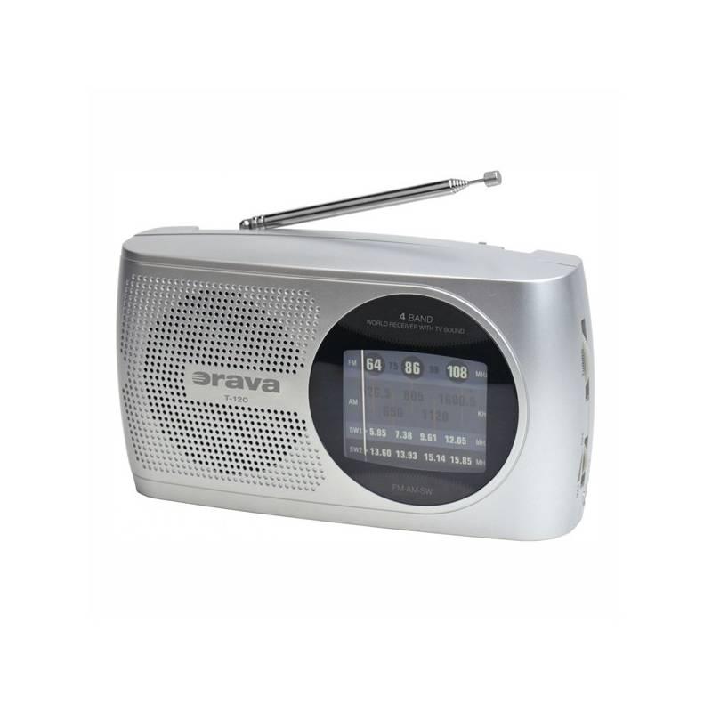 Rádioprijímač Orava SK T-120 sivý