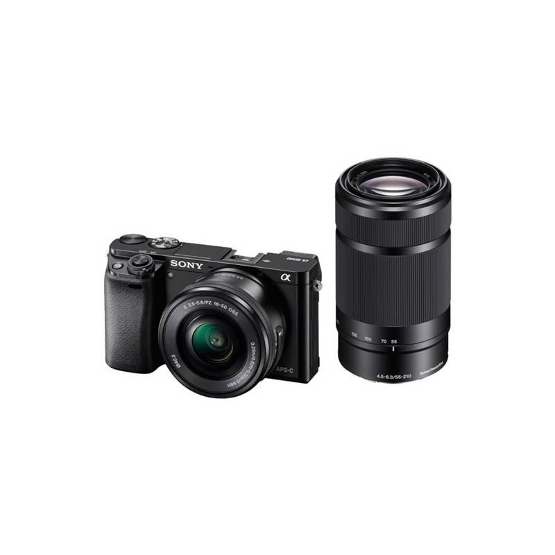 Digitálny fotoaparát Sony Alpha A6000 + 16-50mm + 55-210mm čierny + Doprava zadarmo