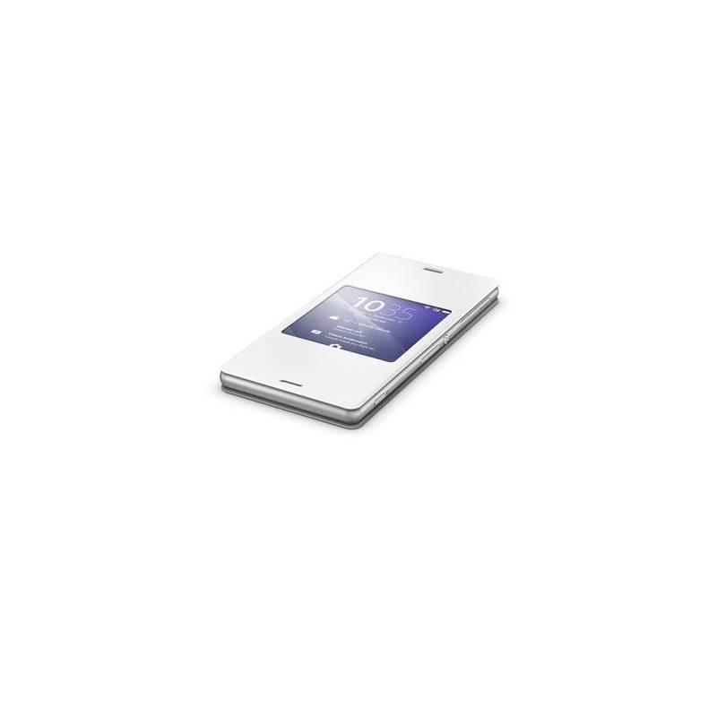 Puzdro na mobil flipové Sony SCR24 pro Xperia Z3 (1287-5640) biele
