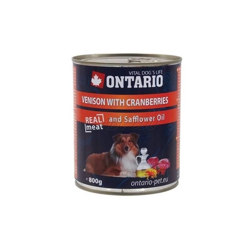 Konzerva Ontario Adult zverina, brusnice a svetlicový olej 800 g