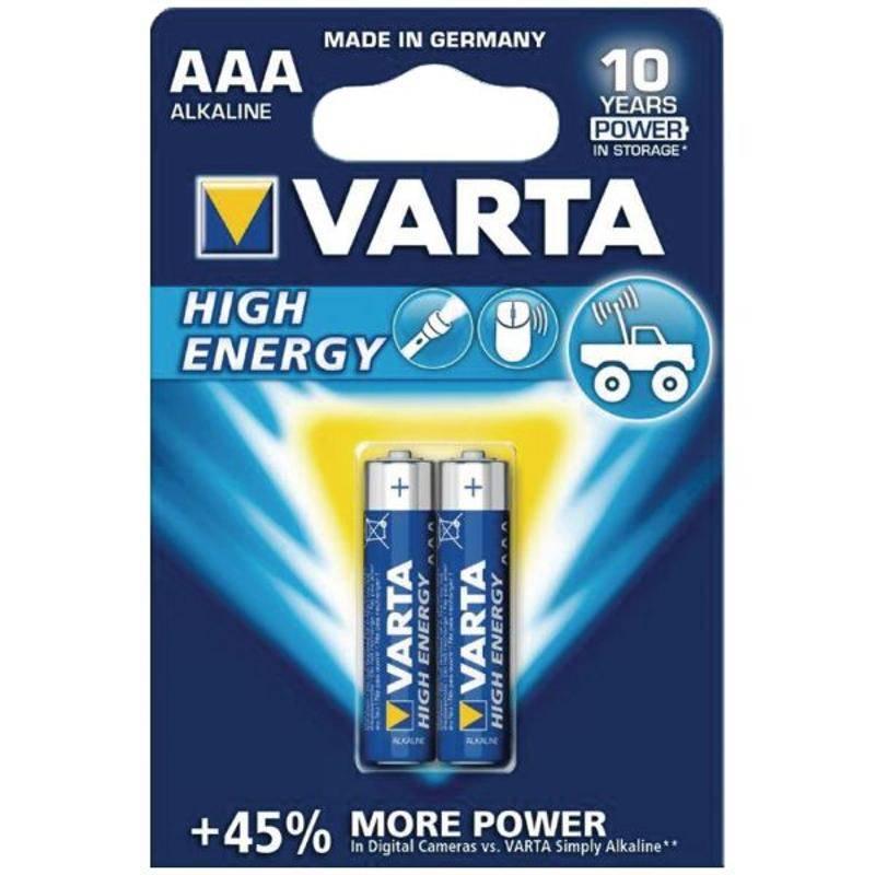 Batéria alkalická Varta High Energy, AAA, 2 ks