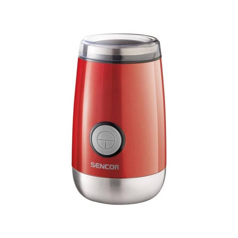 Mlynček na kávu Sencor SCG 2050RD červený