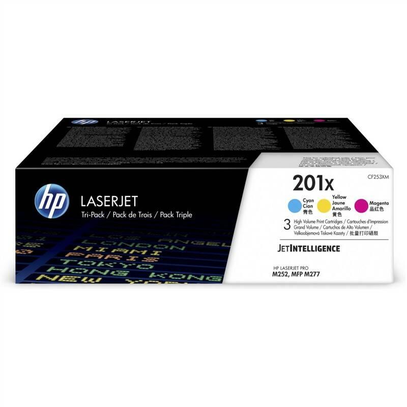 Toner HP 201X, 3x2300 stran, CMY (CF253XM) + Doprava zadarmo