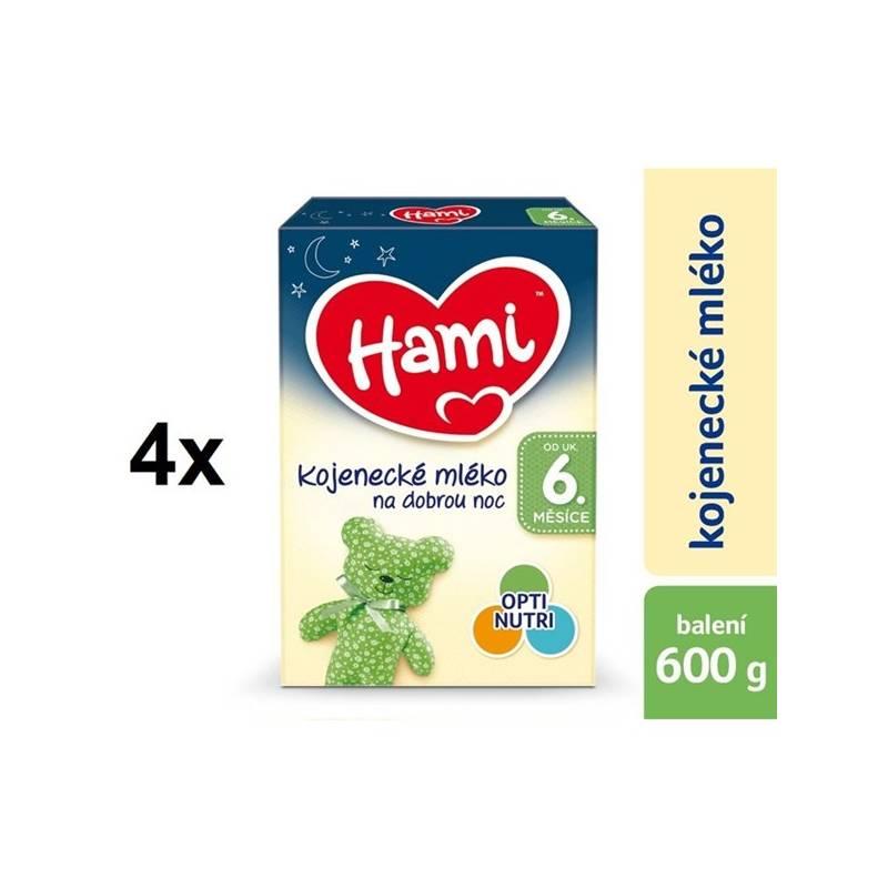 Dojčenské mlieko Hami 2 Na dobrou noc od ukončeného 6.měsíce, 600g x 4ks + DÁREK