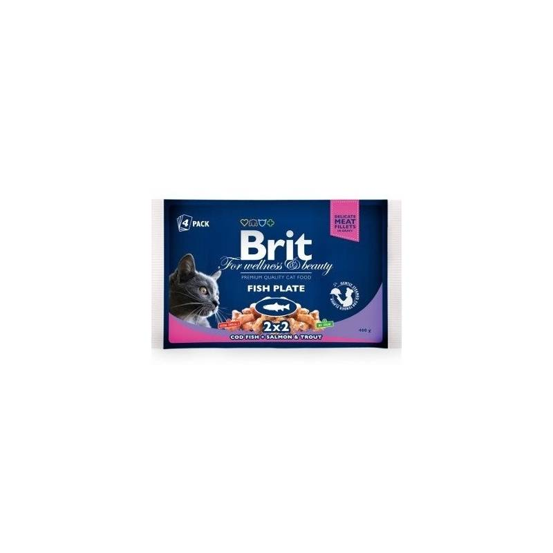 Kapsička Brit Cat Fish Plate 400 g (4x 100 g)