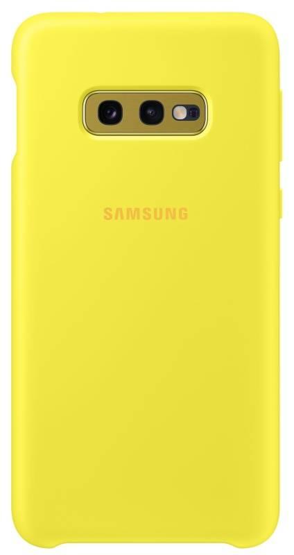 Kryt na mobil Samsung Silicon Cover pro Galaxy S10e (EF-PG970TYEGWW) žltý