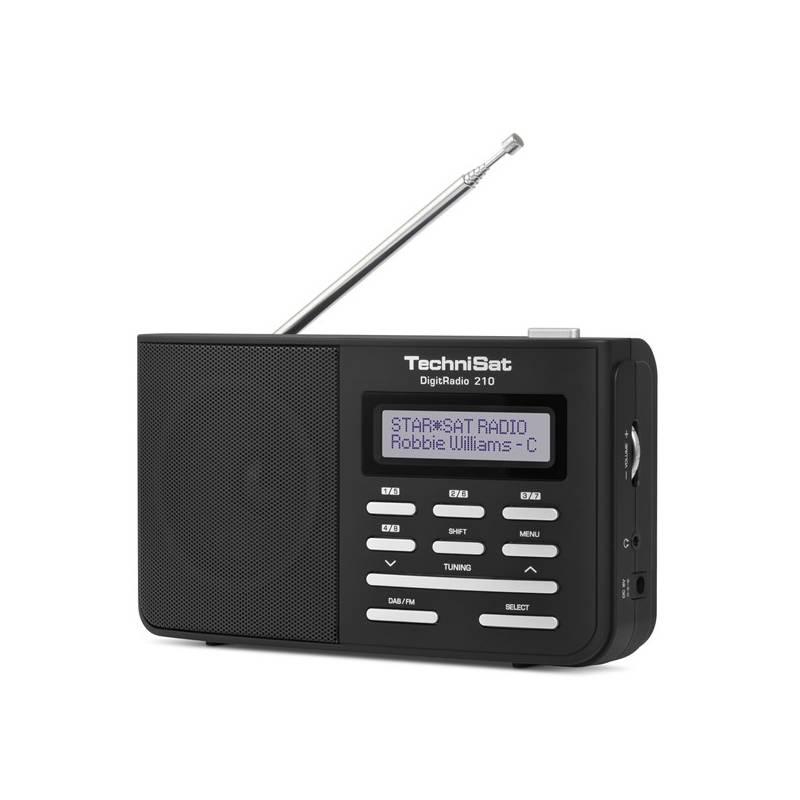 Rádioprijímač s DAB Technisat DAB210 čierny/strieborný