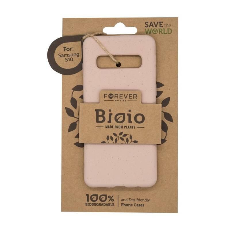 Kryt na mobil Forever Bioio na Samsung Galaxy S10 (HOUSAS10BIOPI) ružový