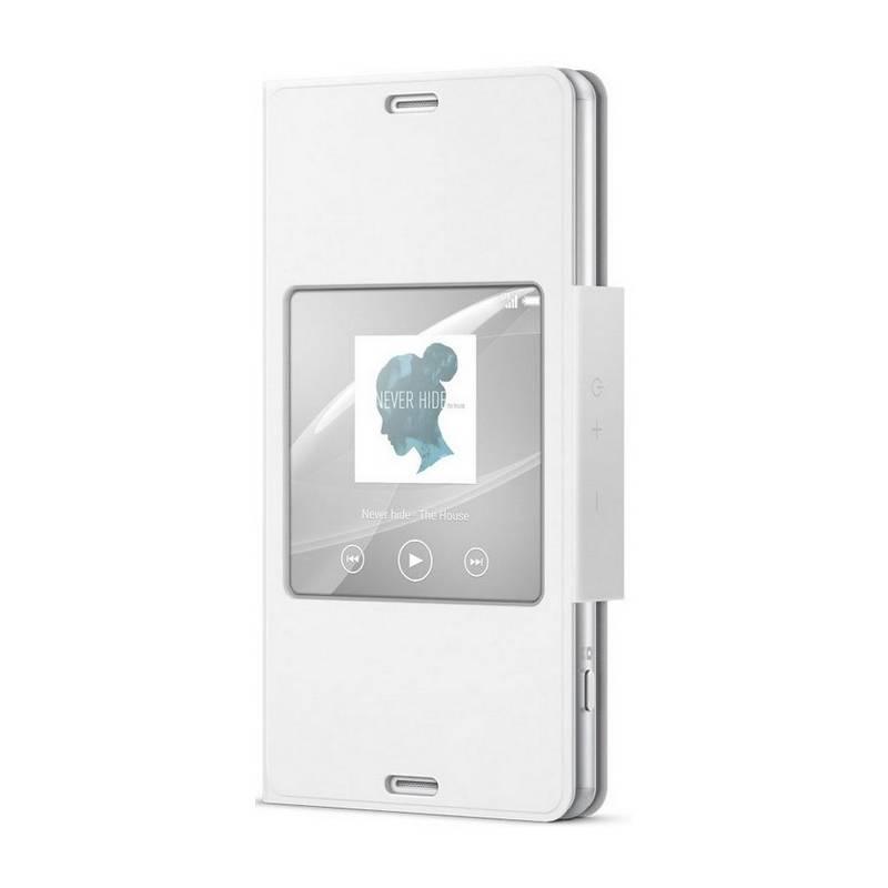 Púzdro na mobil flipové Sony SCR26 na Xperia Z3 Compact (1287-5830) biele