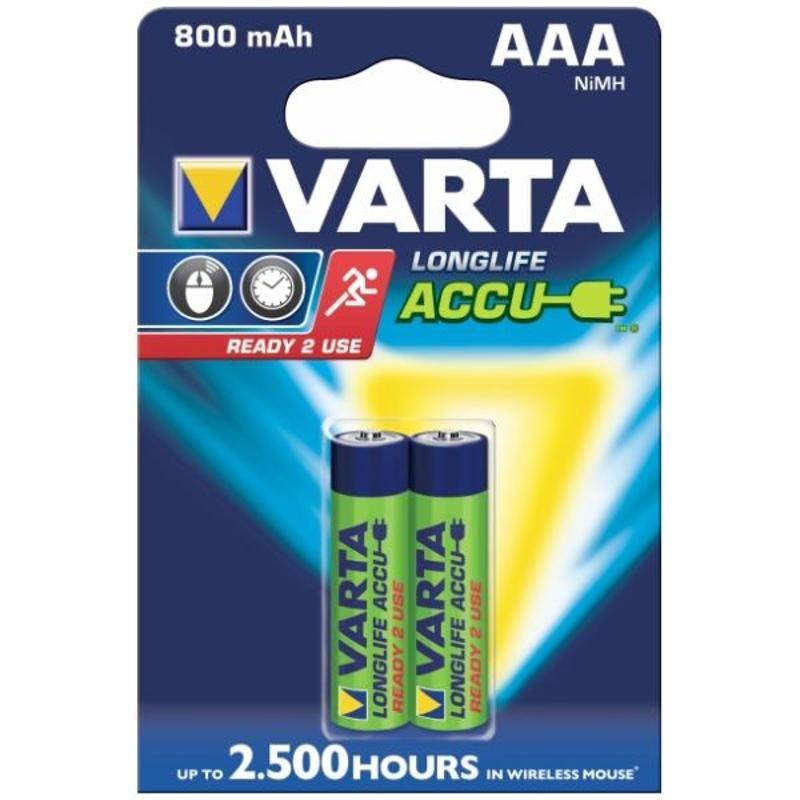 Batéria nabíjacie Varta Longlife Accu, AAA, 800 mAh, 2 ks