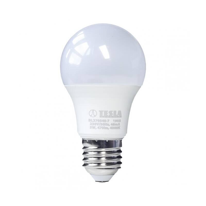 LED žiarovka Tesla klasik, 5W, E27, neutrální bílá (BL270540-7)