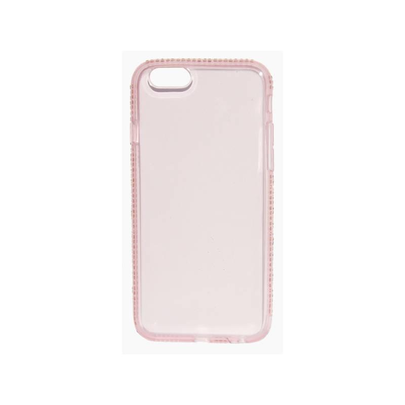 Kryt na mobil Beeyo Diamond Frame pro Apple iPhone 6/6s (BEAAPIP6TPUFRPI) ružový