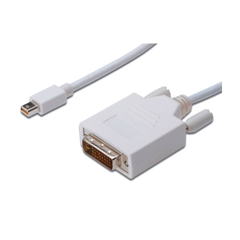 Kábel PremiumCord Mini DisplayPort / DVI, M/M, 1m (kportadmk02-01) biely