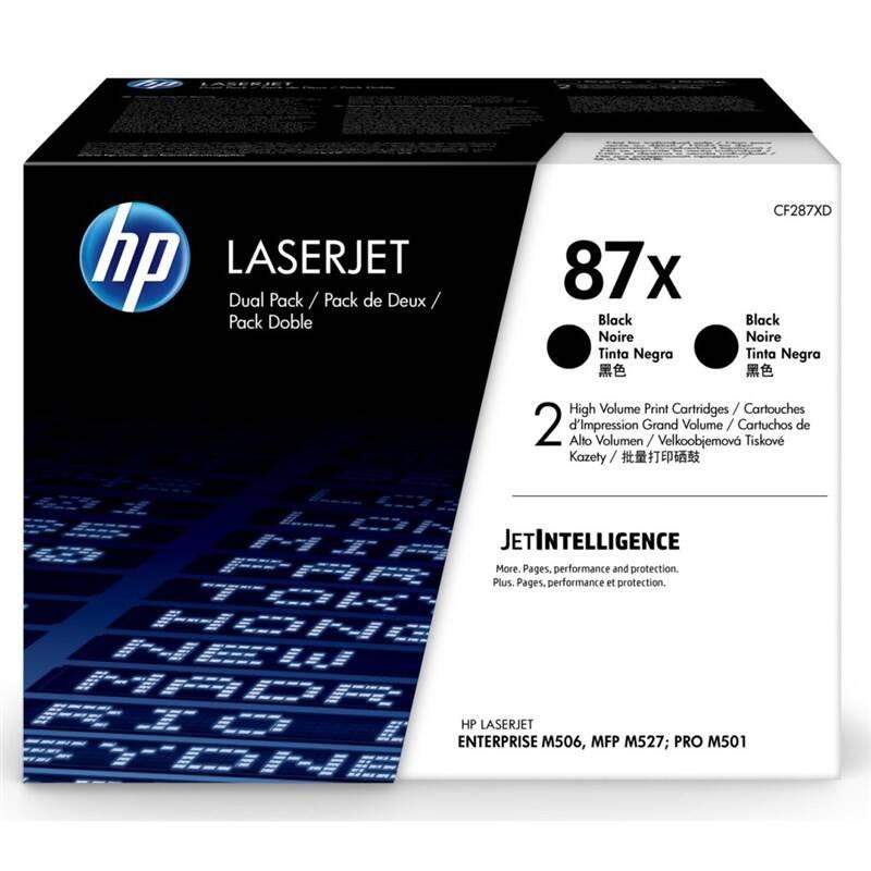 Toner HP 87X, 2x18000 stran, 2-pack (CF287XD) čierny + Doprava zadarmo