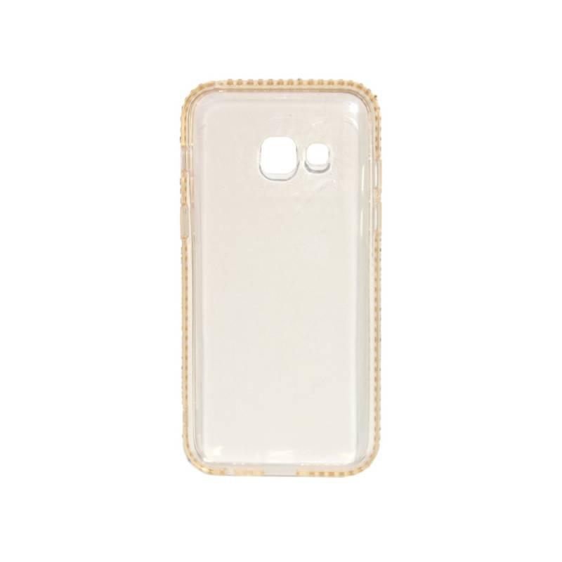 Kryt na mobil Beeyo Diamond Frame pro Samsung Galaxy A3 (2017) (BEASAGAA32017TPUFRGO) zlatý