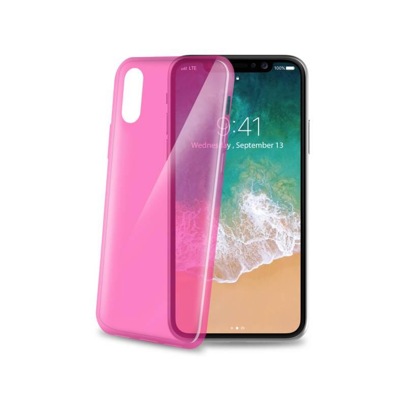 Kryt na mobil Celly Ultrathin pro Apple iPhone X (THIN900PK) ružový 6bafdc14b60