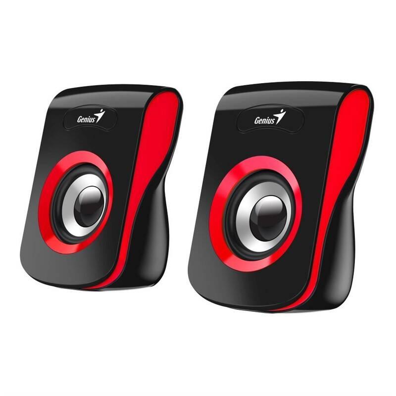 Reproduktory Genius SP-Q180 (31730026401) černé/červené