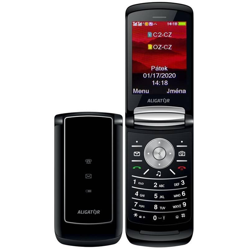 Mobilný telefón Aligator DV800 Dual SIM (ADV800B) čierny