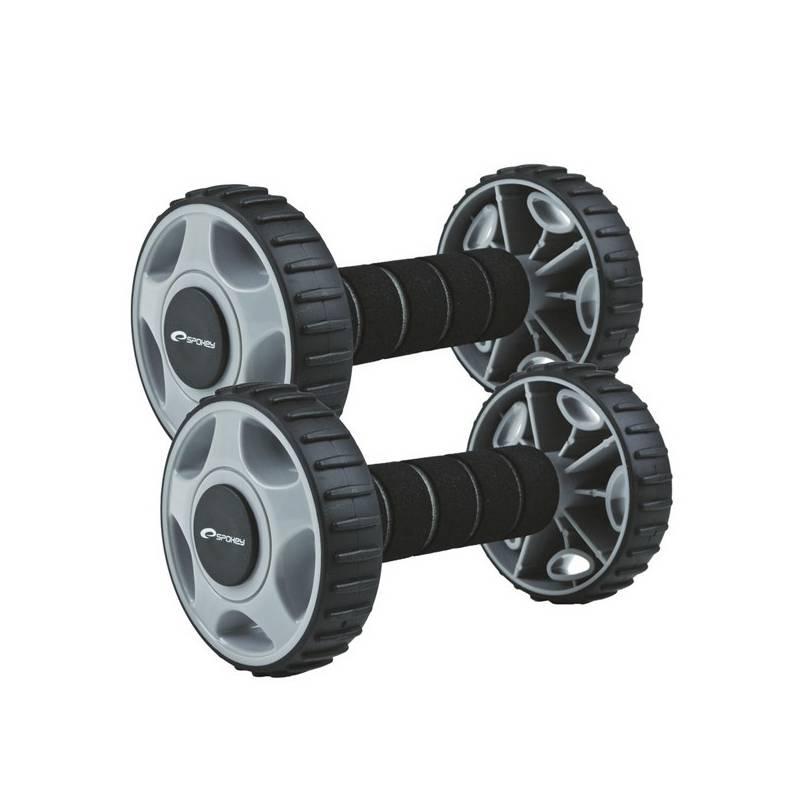 Posilňovací valček Spokey Double Wheeld, dve kolieska - čierna + Doprava zadarmo