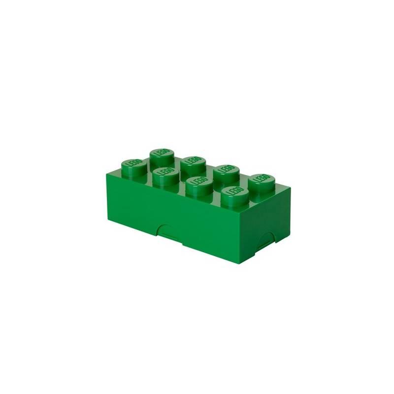 Box na desiatu LEGO® 100 x 200 x 75 mm zelený + Doprava zadarmo