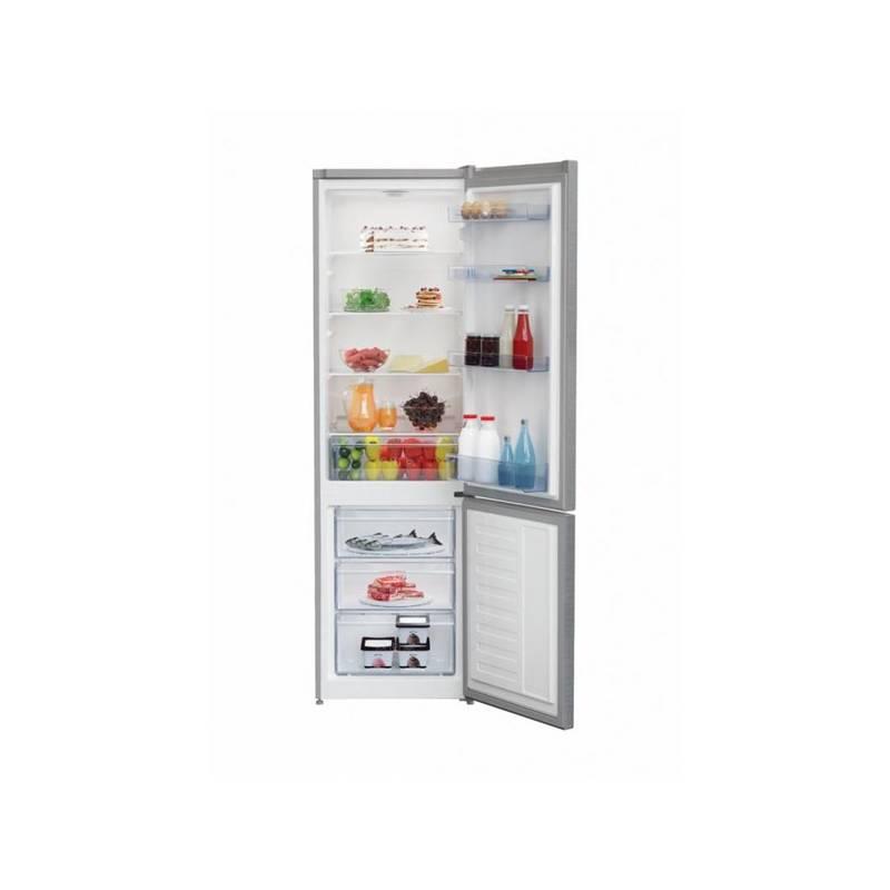 Kombinácia chladničky s mrazničkou Beko RCSA 300 K30XP Titanium