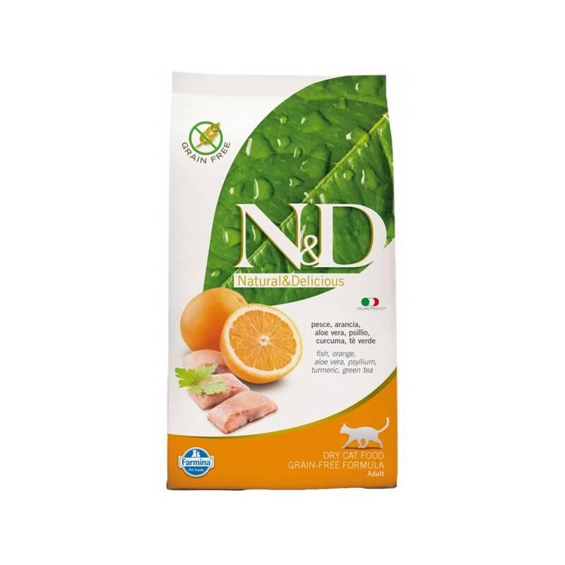 Granule N&D Grain Free CAT Adult Fish & Orange 10 kg + Doprava zadarmo