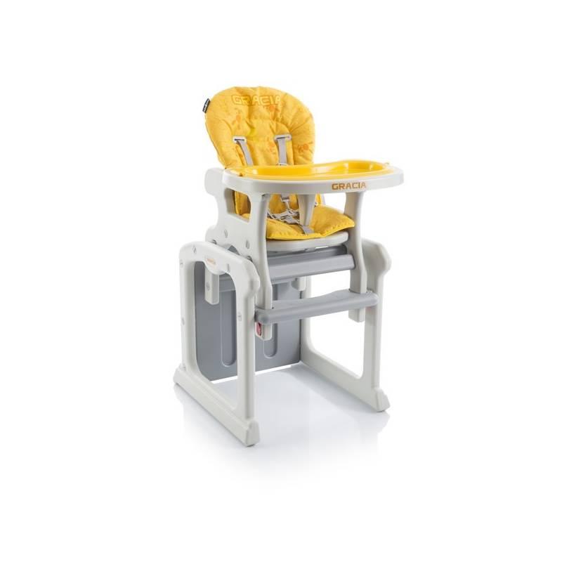 Jedálenská stolička Babypoint Gracia žltá + Doprava zadarmo