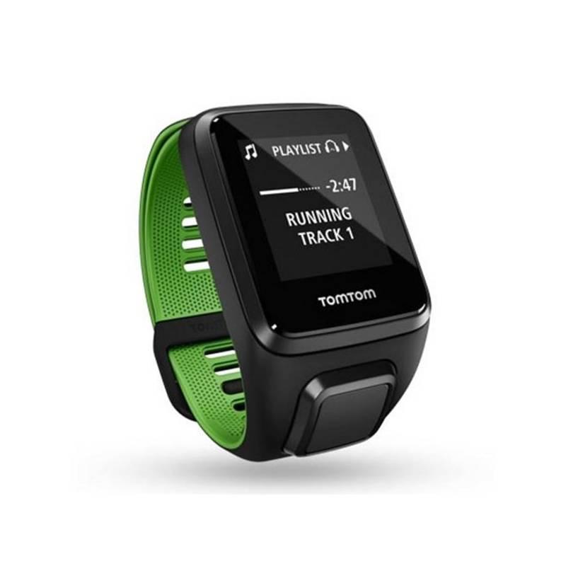 GPS hodinky Tomtom Runner 3 Cardio + Music + Bluetooth sluchátka (L) (1RKM.001.10) čierne/zelené