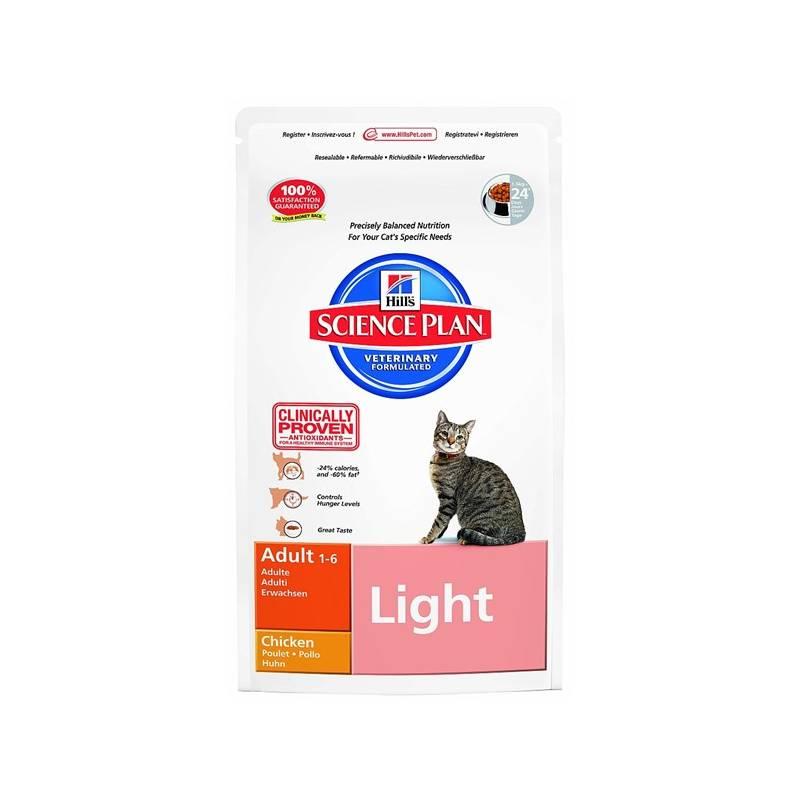 Granule Hill's Feline Adult Light Chicken, 10 kg (pre mačky)