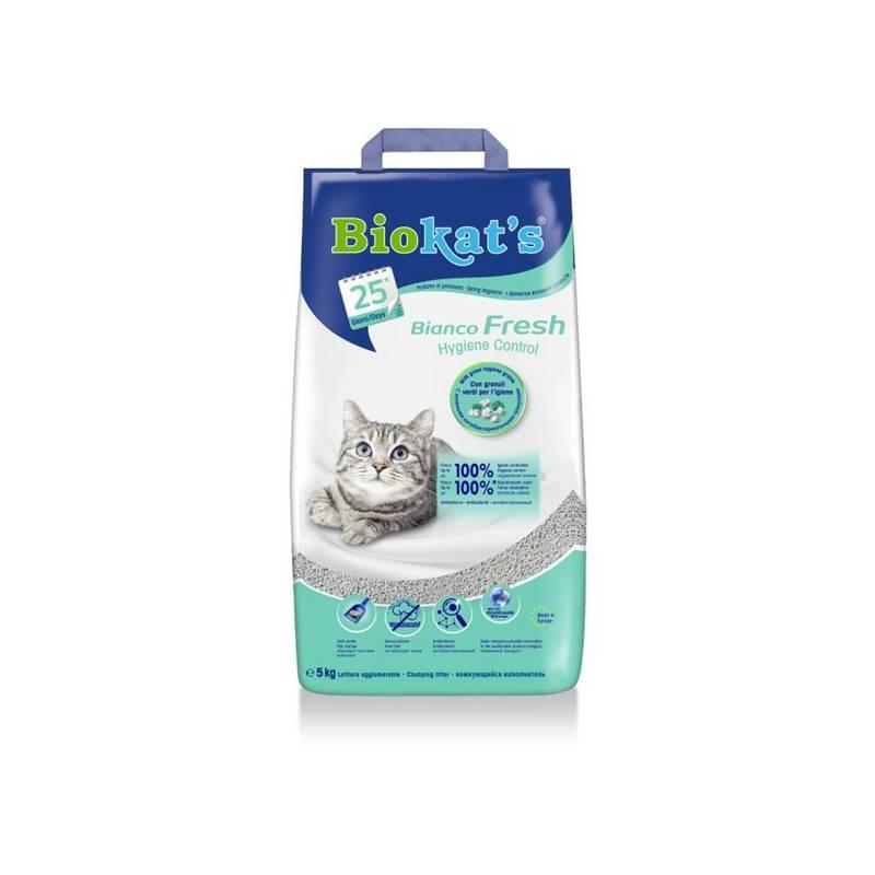 Podstielky Biokat´s Bianco Fresh Control 5kg