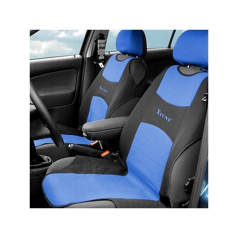 Poťah sedadiel Compass TRIKO přední 2 ks modrý