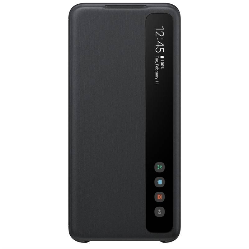 Púzdro na mobil flipové Samsung Clear View na Galaxy S20 (EF-ZG980CBEGEU) čierne