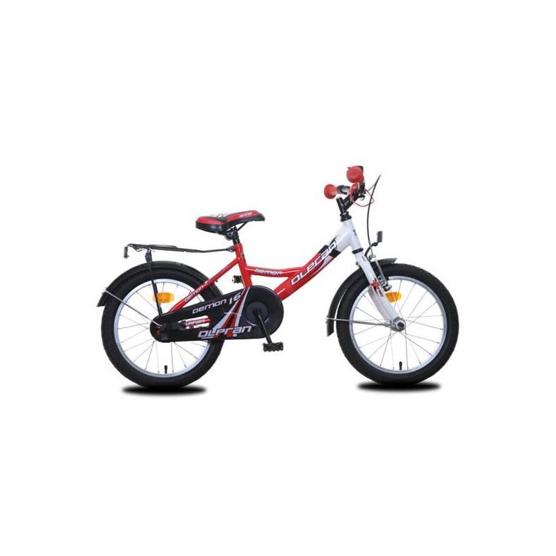 """Detský bicykel Olpran Demon 16"""" červené + Reflexní sada 2 SportTeam (pásek, přívěsek, samolepky) - zelené v hodnote 2.80 €Sada cyklodoplňků (zvonek+blikačka+světlo) pro kolo dětské (zdarma) + Doprava zadarmo"""
