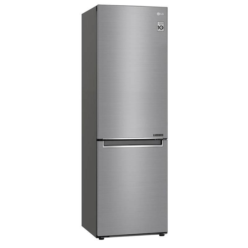 Chladnička s mrazničkou LG GBB61PZJZN nerez + LG 10 let záruka na Lineární kompresor