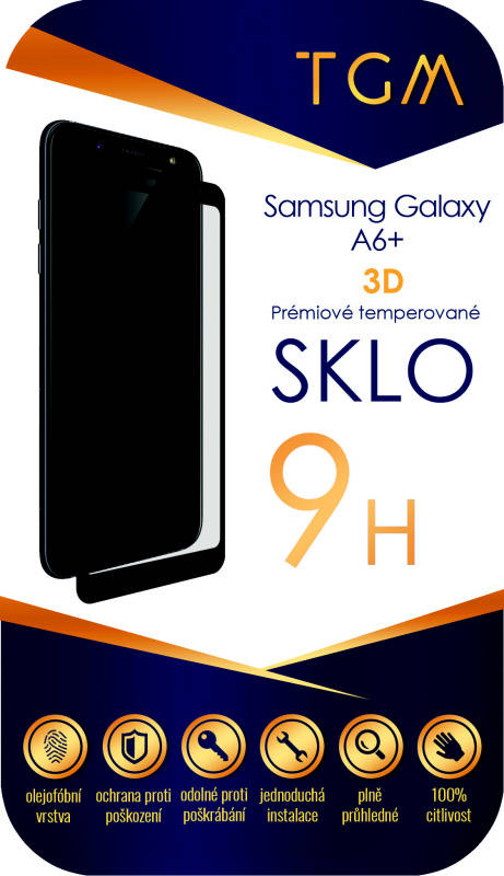 Ochranné sklo TGM 3D pro Samsung Galaxy A6 Plus (TGM3DSGA6PBL) čierne