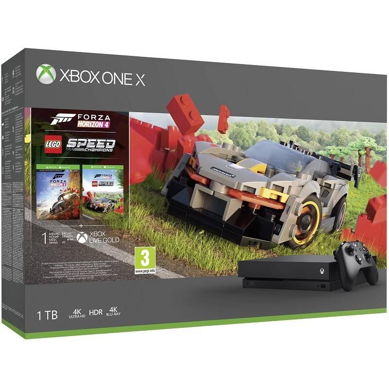 Herná konzola Microsoft Xbox One X 1 TB + Forza Horizon 4 + DLC LEGO Speed Champions (CYV-00468)
