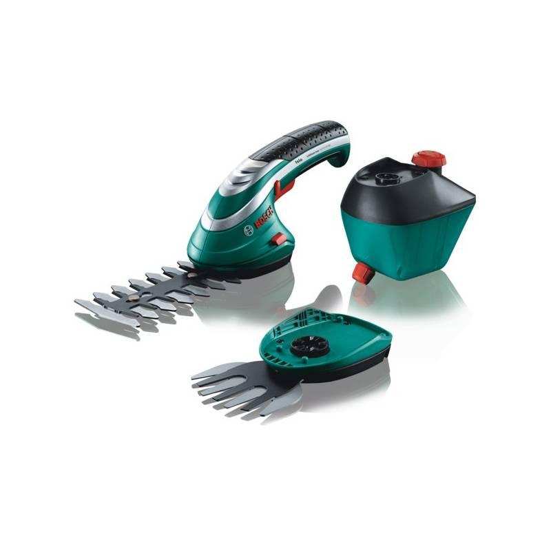 Nožnice na trávu Bosch Isio 3 aku + rozprašovač