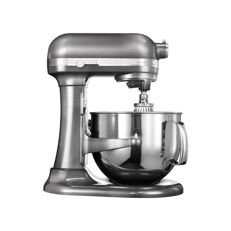 Kuchynský robot KitchenAid Artisan 5KSM7580XEMS sivý Příslušenství k robotu KitchenAid 5KR7SB mísa 6,9 l (leštěný nerez) (zdarma) + Doprava zadarmo