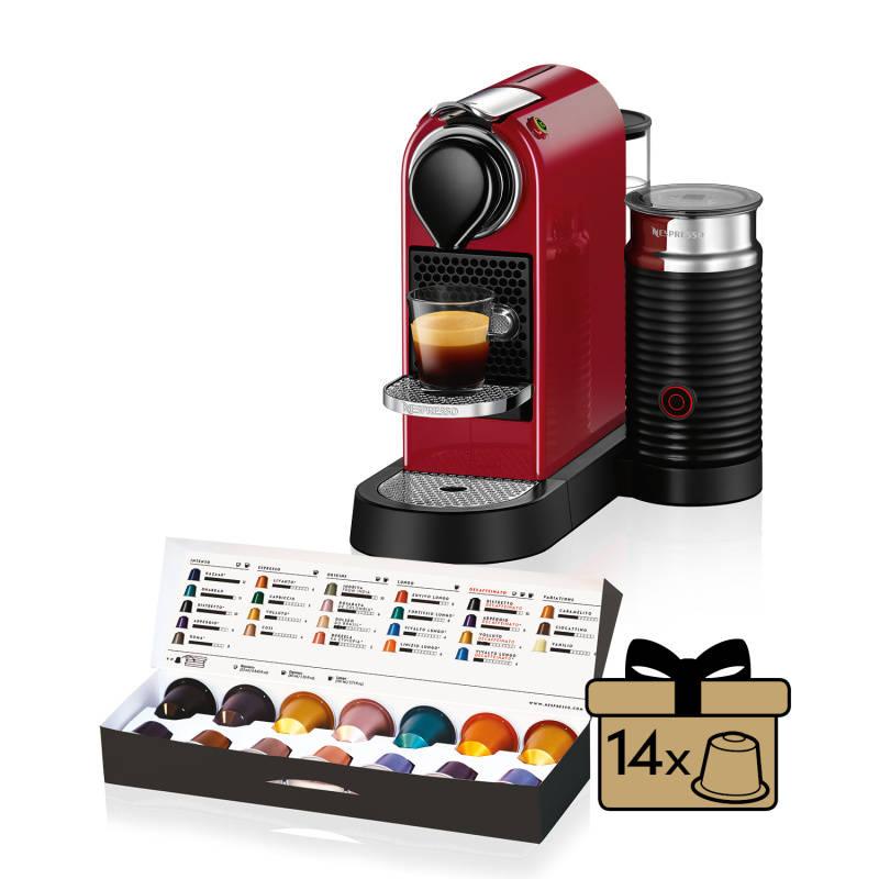 fb32854eb Espresso Krups Nespresso Citiz&Milk XN760510 červené