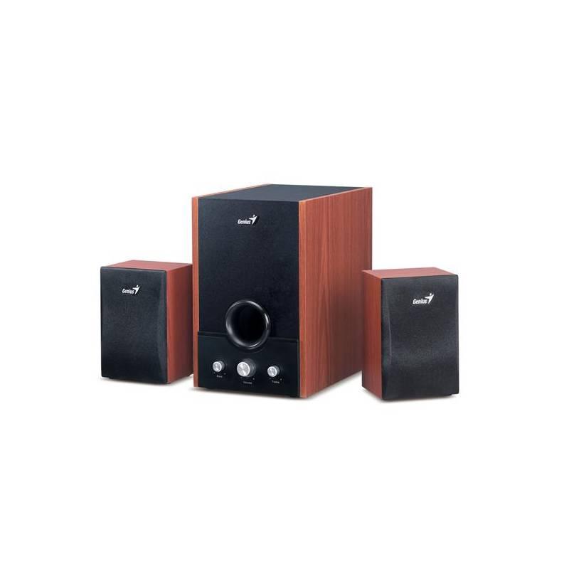 Reproduktory Genius SW-HF 1700 2.1 (31731037100) čierna/imitácia dreva