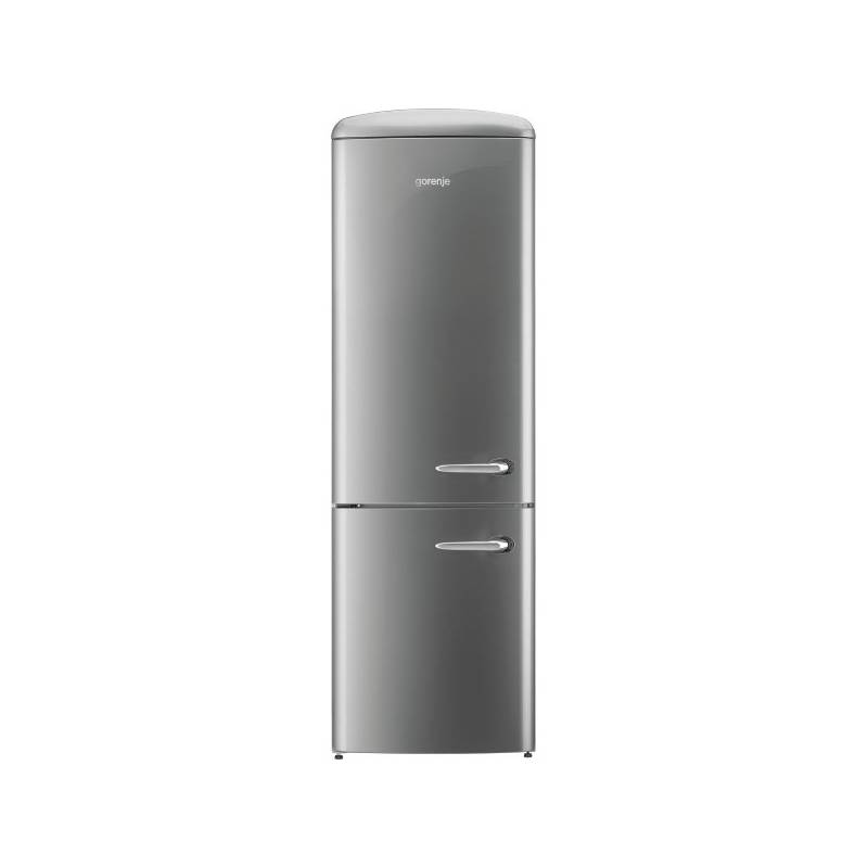 Kombinácia chladničky s mrazničkou Gorenje Retro ORK192X-L strieborná + Doprava zadarmo