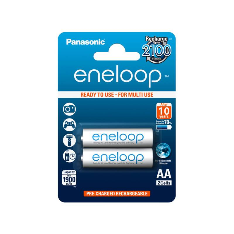 Baterie nabíjecí Panasonic Eneloop AA, HR06, 1900mAh, Ni-MH, blistr 2ks (BK-3MCCE/2BE)