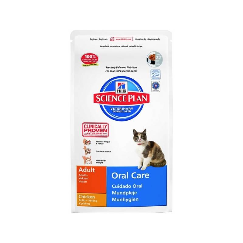 Granule Hill's Feline Adult Oral Care, 5 kg (pre mačky)